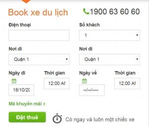 App gọi xe, thuê xe du lịch giá rẻ 4 chỗ, 7 chỗ, 16 chỗ
