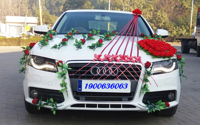 Hình ảnh cho thuê xe hoa Audi
