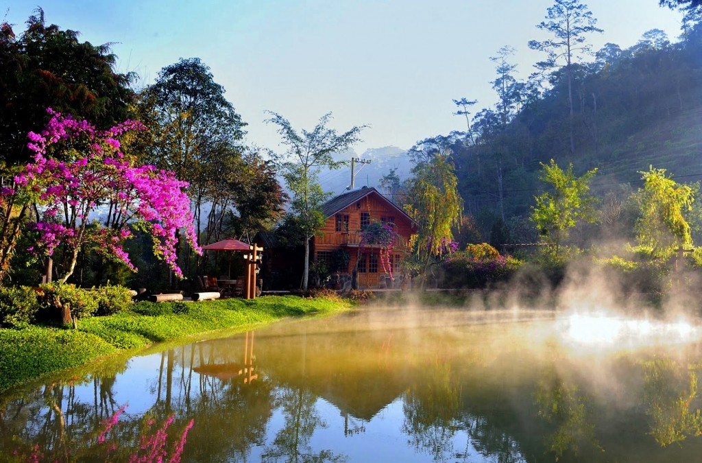Khung cảnh yên bình, thơ mộng ở Ma rừng lữ quán